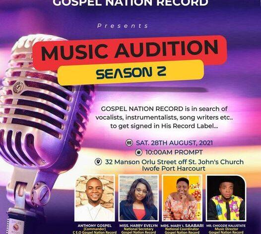 Music Audition Season 2